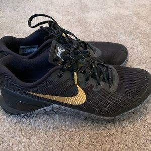 Black and Gold Nike Metcon